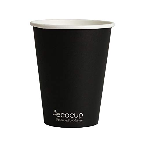 Vasos de Café Desechables, Biodegradables y Compostables- 500Uds 400ml/12oz -Materiales 100% Ecológicos:...