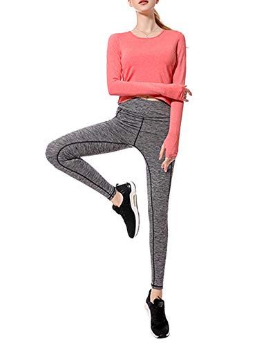 Zhhlinyuan 2 Pièces Sport Fonctionnement Exercice Aptitude Décontractée Vêtements Costume de Yoga - Respirant Athlétique Gym Randonnée en Marchant Survêtement