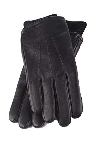 HEAT HOLDERS - Gants cuir homme noir chauds hiver toison doublés en 2 tailles (L/XL)