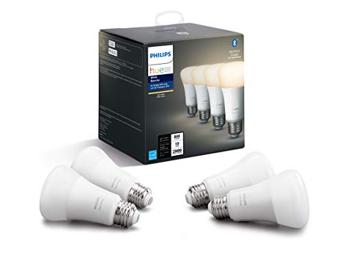 Philips Hue 476879 Hue 9.5W A19 E26 White Bulb, A Certified for Humans Device