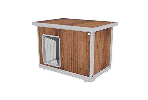 Roma Wood - Caseta aislada para perros, de exterior, jardín