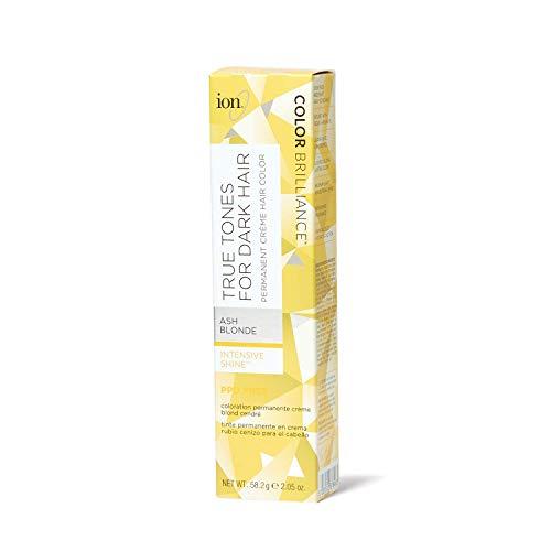 Ion True Tones for Dark Hair Permanent Crème Hair Color Ash Blonde Ash Blonde