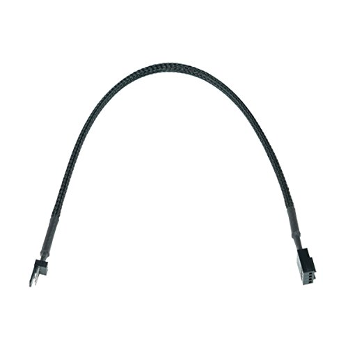 Phobya Adapter 3Pin (Buchse) auf 4Pin PWM (Stecker) 30cm - Schwarz Kabel Lüfterkabel und Adapter