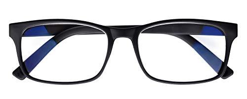 Blaulicht-Brille, Computer-Brille, Blaulicht-Filter-Brille, Anti-Blaulicht, UV-Computer-Brille für Männer und Frauen, transparent, Gaming-Brille, 0,00 Linsenstärke