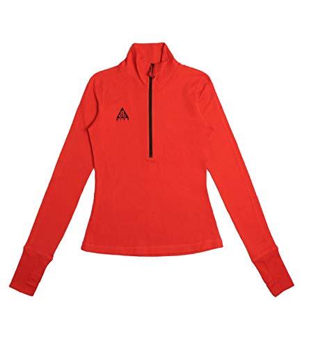 Nike ACG Longsleeve Thermal Top Fitness-Shirt wärmendes Damen Langarmshirt Lauf-Shirt Sport-Shirt Rot, Größe:M