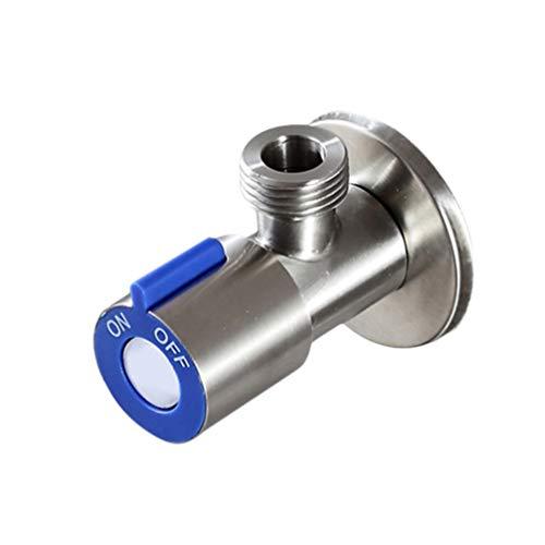 DOITOOL 1 Stück Badezimmer Eckventil bleifrei Solide Edelstahl Absperrventil für Toilette Warmwasserbereiter Waschbecken Küche 8,6 * 3,3 cm Blau