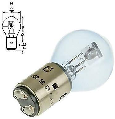 2 x hoogwaardige lamp - 12 V - gloeilamp - E-gekeurd//E-teken - 35/35W - BA20D voor koplampen