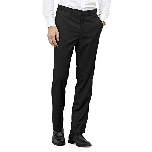 Kenneth Cole REACTION Men's Slim Fit Suit Separate Pant, Black,30W
