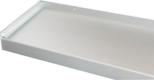 Fensterbank, Fensterbrett 300 mm Tief, 1200 mm Lang - Silber (Ohne Seitenteile)