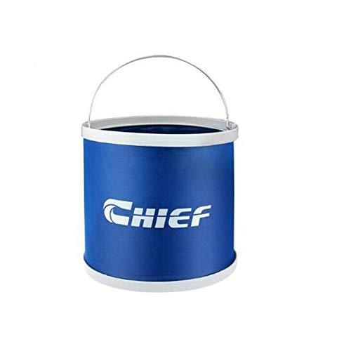 Ar Wash Folding Bucket, Portable, Car, Telescopic Bucket, Outdoor Fishing Bucket, Fishing Bucket, 9L Bucket (Color : Blue)