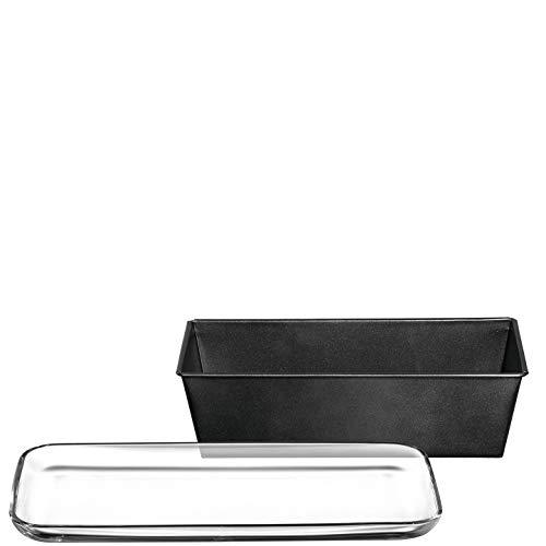LEONARDO HOME 038830 Platte 33x16cm LIMITED EDITION + Kastenkuchenform, Materialmix