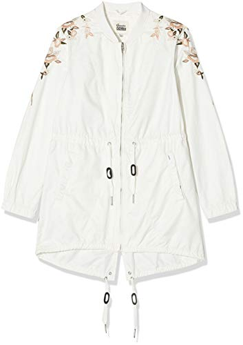 Khujo Damen Jacke Irelia Embroidery Jacket, Beige (Nude 145), Herstellergröße:L