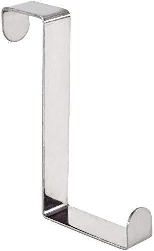 Wenko 4214062100 Türgarderobenhaken - 6er Set, Edelstahl rostfrei,1,2 x 7,6 cm x 4,2 cm, Glänzend