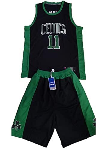 YXST Camiseta De Baloncesto # 11 NBA De La Camiseta + PantalóN Corto RéPlica De Jugador De Baloncesto CláSico Transpirable De Secado RáPido,para JóVenes Sudadera,Black,XL