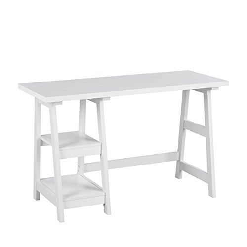Bureau simple, élégant et compact pour économiser de l'espace - Pour la maison ou le bureau - Blanc - Innovareds