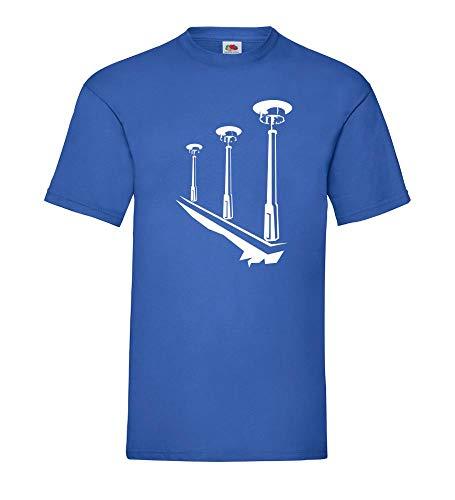 DDR Laternen Männer T-Shirt Royal Blau S - shirt84.de