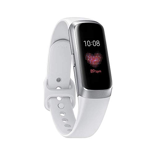 Samsung Galaxy Fit Silver (Bluetooth), SM-R370NZSAXAR – US Version with Warranty (Renewed)
