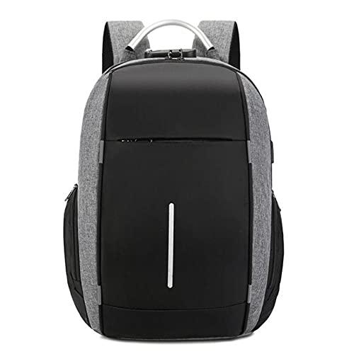 Mochila de negocios para ordenador portátil, 15.6 pulgadas, impermeable, bolsa de viaje urbana negra, mochila escolar de gran capacidad