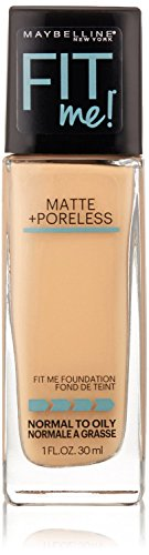 Price comparison product image Maybelline New York Fit Me! Matte + Poreless Foundation,  Nude Beige [125] 1 oz (Pack of 2)