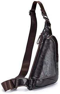 Crossbody Bags For Leisure - Men Crossbody Bag Chest Bag - Coffee