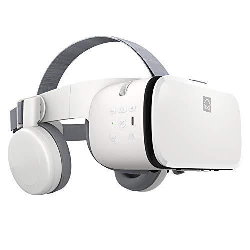 Cuffie per Realtà Virtuale, Occhiali 3D VR per Giochi per Cellulari, Video E Film, con Telecomando Bluetooth, Telefono iPhone/Android da 4,7-6,3 Pollici Compatibile