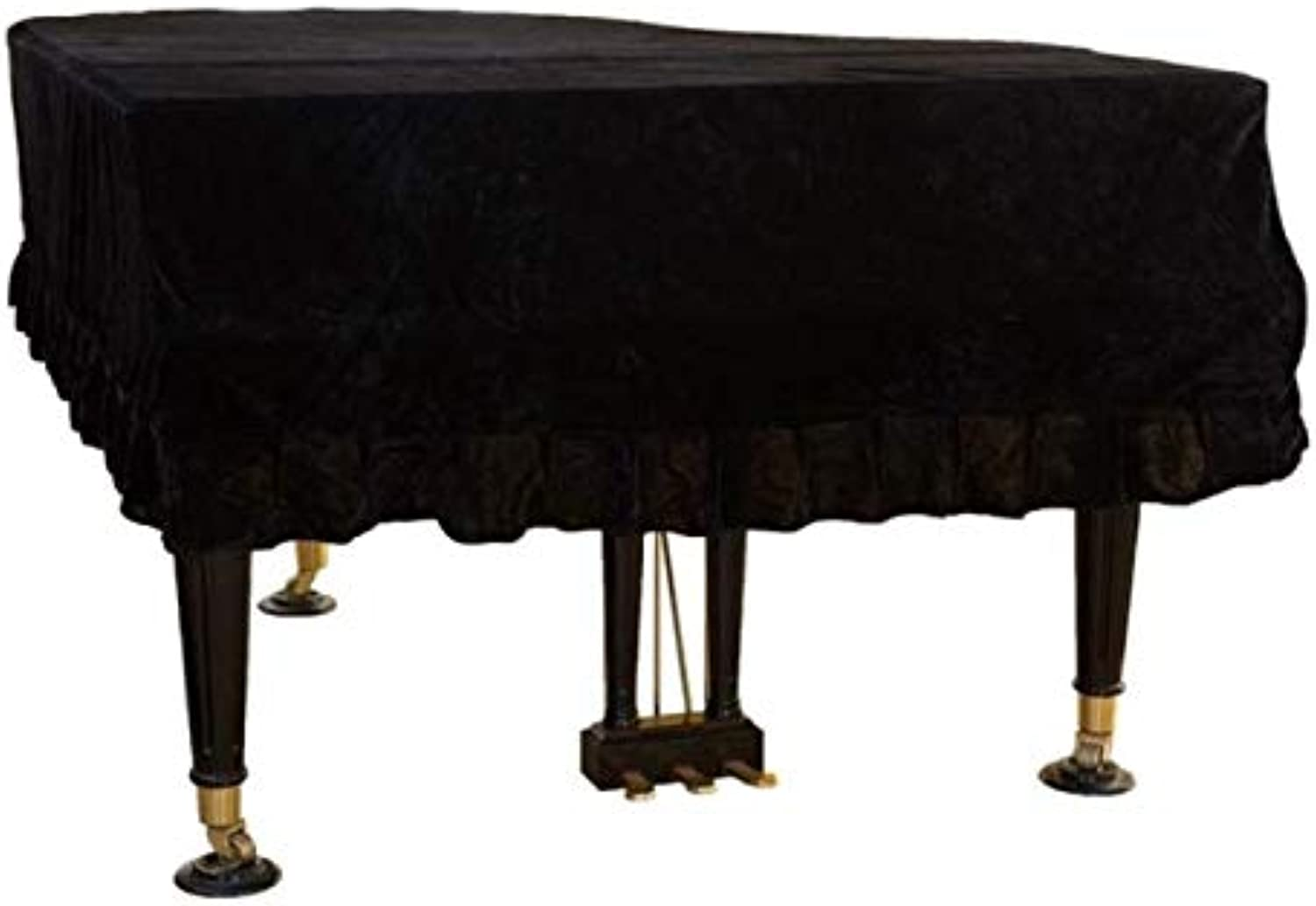 WANGYONGQI Thicken Grand Piano Cover 1 PCS Dust Proof Home Texile gold Velvet Cloth Cover Trigon Piano Accessories Cover