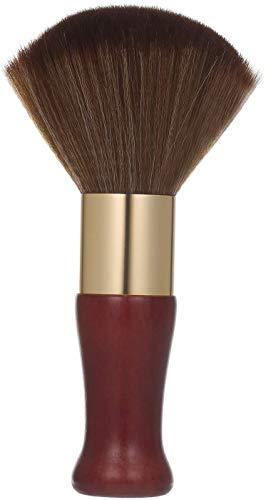 Anself, Bürste zum Abstauben des Halses, mit ultraweichem Holzgriff, zum Schneiden von Haaren, für Friseure und Friseure (Reddish Brown)