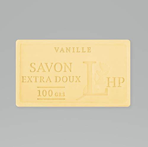 PRODUIT DE PROVENCE - VANILLE - SAVON DE MARSEILLE EXTRA DOUX 100 G - DÉLICAT PARFUM NATUREL DE VANILLE - GARANTI SANS PARABEN
