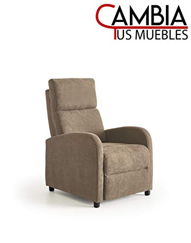 CAMBIA TUS MUEBLES - Nexus butaca Relax, sillón reclinable Manual, Color Marrón