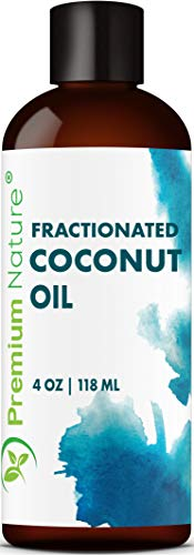 Coconut Oil, Natural Carrier Oil 4 oz, Nourishes Skin, For Face & Body, Moisturizes & Repairs Damaged Hair, Anti-Bacterial & Anti-Fungal Properties - By Premium Nature by Premium Nature