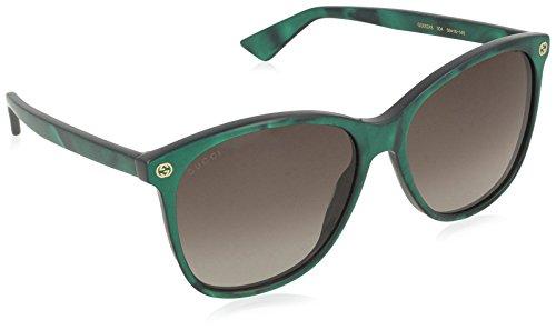 Gucci GG0024S 004 Occhiali da Sole, Verde (Green/Brown), 58 Donna