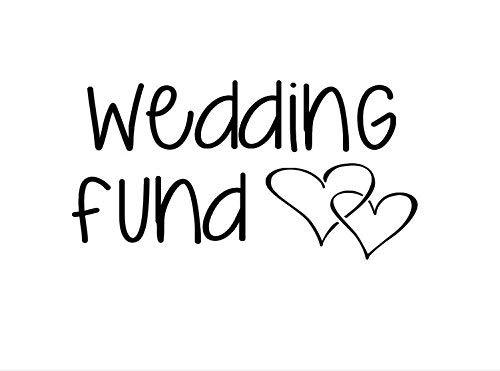 Vinyl Letters Signage Wedding Reception Jar Sign Honeymoon Fund Wedding Gift Jar Decal