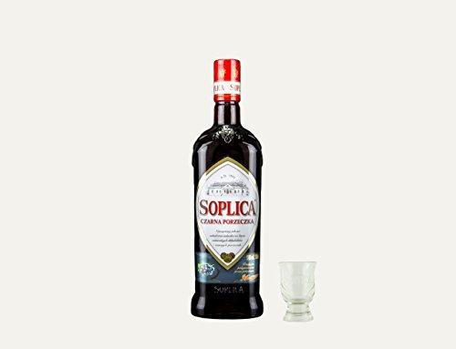 Soplica Johannisbeere + Free Shot Glas | Polnischer Johannisbeerenwodka/-likör | 30%, 0,5 Liter