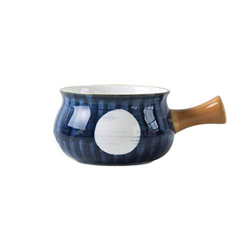 JLWM Suppenschüssel Mit Henkel Japan, 500ML Suppenschüsseln Aus Porzellan Keramik Ofen Mikrowelle Küche Für Nudeln Haferbrei Frühstück-C