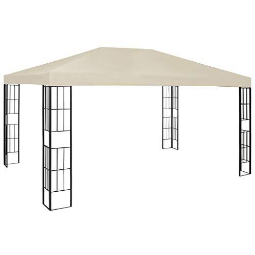 Lechnical Pavilion garden pavilion waterproof UV protection garden tent sun protection for garden market camping weddings metal struts 3 × 4 m cream