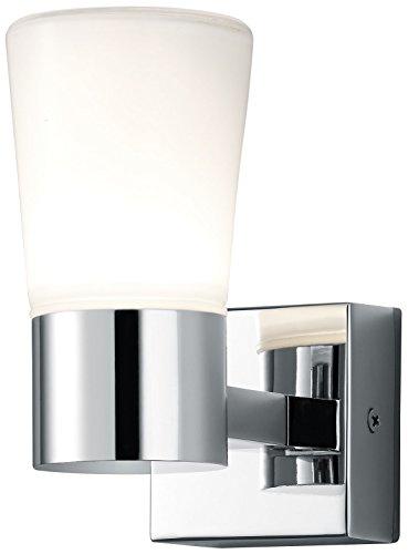 Trio Leuchten LED-Bad-Wandleuchte, chrom, Glas opal matt weiß 282310106