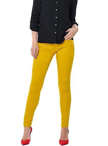 Pantalones amarillos de mujer tono amarillo mostaza
