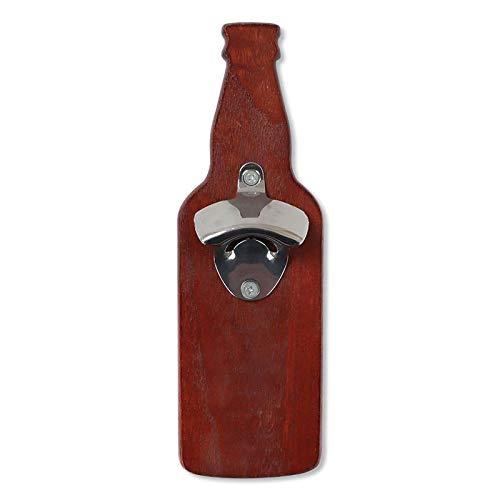Abridor de botellas de cerveza magnética de madera maciza abridor de botellas magnético para refrigerador etiqueta engomada imán de pared destornillador herramienta de cocina vino rojo