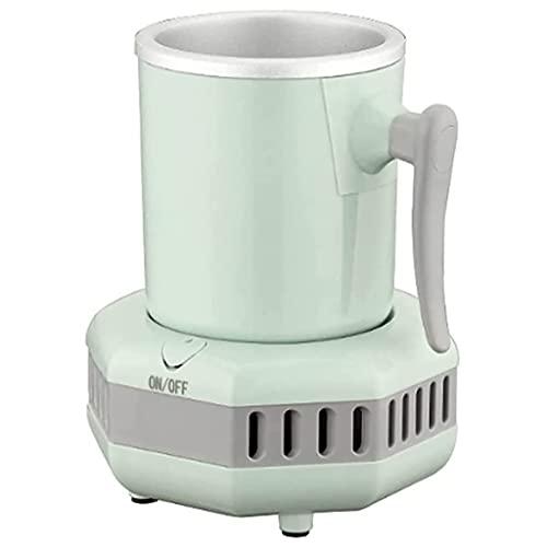Rabbfay Calor Y Fresco Copa De Café: Calentadores De Bebidas Y Bebidas Frías 2 En 1, Tazas Frías Y Tazas De Relojes con Apagado Automático para Su Uso En El Escritorio