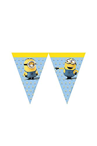 Procos 87182-row Minions flags-yellow/luz azul