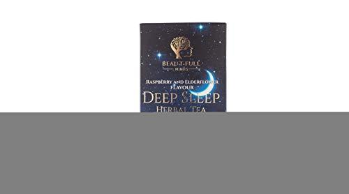 BEAU-T-FULL MINDS Deep Sleep Herbal Tea 35g   Raspberry & Elderflower Flavour   Boosts Immunity   Plant Based   REM Inducing   Supports Mental Wellbeing  