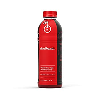 Cheribundi ORIGINAL Tart Cherry Juice - 50 Tart Cherries Per 24 Fl Oz Serving  Pack of 8  100% Juice Naturally Sweetened Hint of Apple Reduce Soreness Recover Faster Boost Immunity Improve Sleep