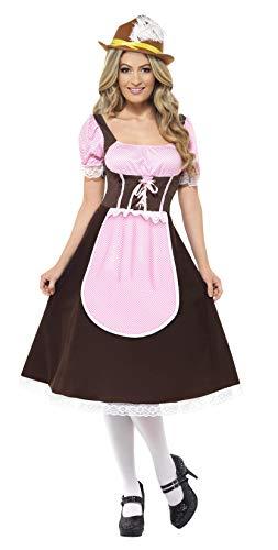 Smiffys Costume de tavernière, marron, robe longue avec tablier intégré