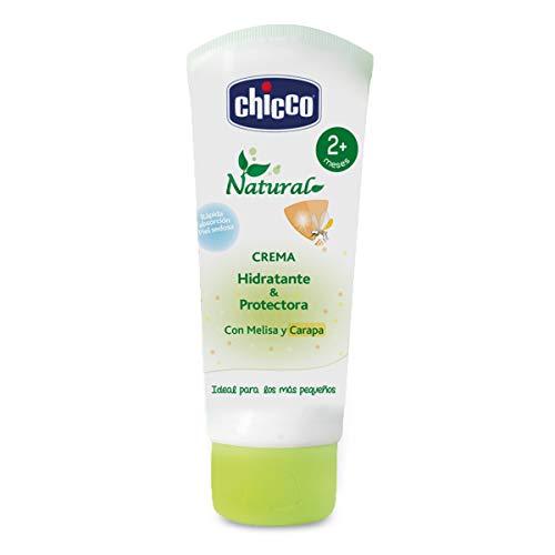 Chicco Protección Natural - Crema Hidratante Bebé que protege naturalmente también frente a los mosquitos - 100 ml, 2m+