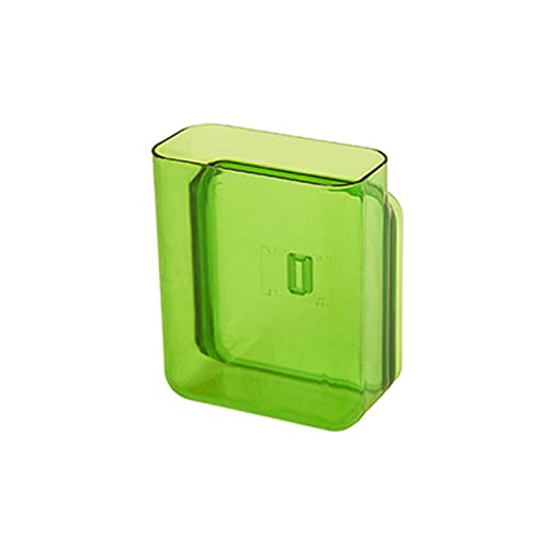 asx Estante dispensador multifunción para colgar en la pared, caja de almacenamiento para aire acondicionado y TV, mando a distancia, organizador de contenedores para bolígrafos (color: verde S)