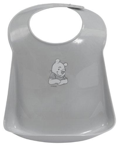 Bébé-Jou 6558 Bavoir en plastique Winnie l'ourson Gris