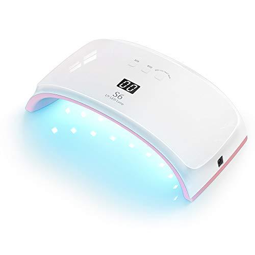 UV Lampe für Gelnägel, Xpreen Led Nageltrockner 42W Lampe Nägel mit 21 Lichtperlen - Nail Art Starterlampe für Fingernägel und Zehennägel - Tragbarer Gel-Nagellack-Trockner