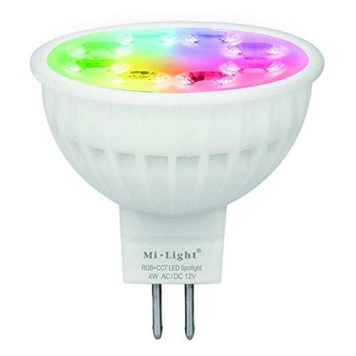 LED GU5.3 MR16 4W RGB+CCT Spotlicht Spotlight Leuchtmittel Steuerung via Funkfernbedienung WiFi Lampe iOS Adroid App FUT104