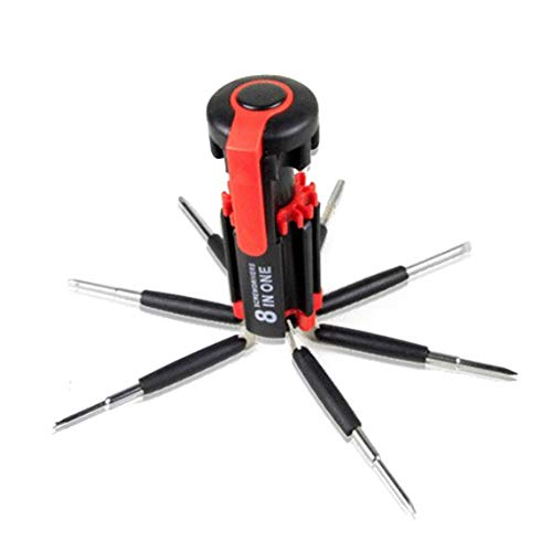 8 in 1 Multi Portable Screwdriver Tools Set with 6 LED Torch