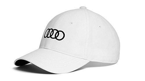 Audi original Unisex Baseballkappe, Weiß